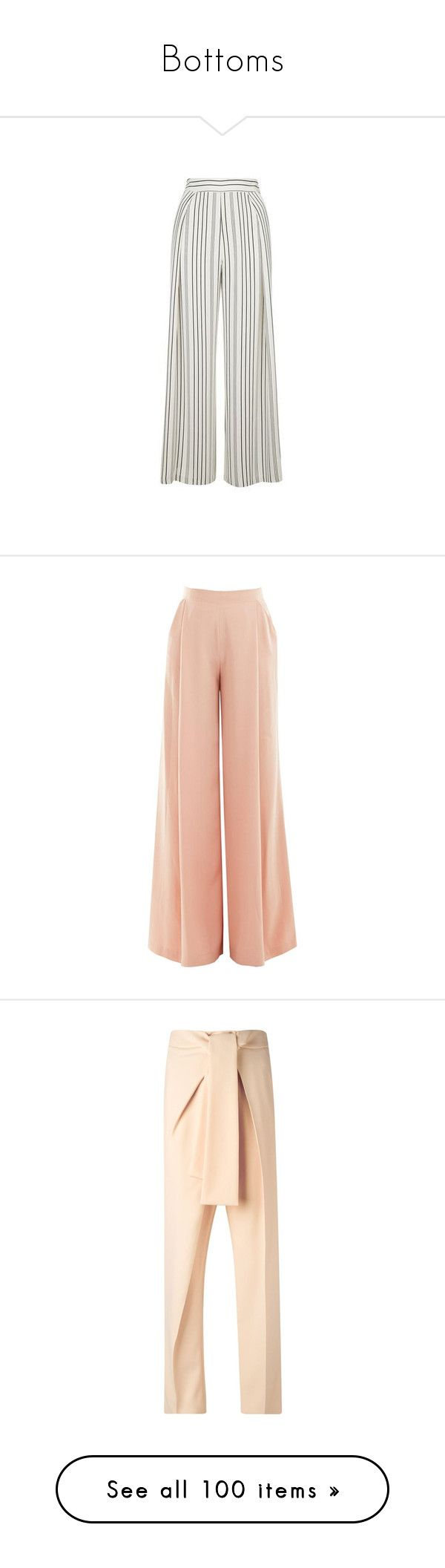"""Bottoms"" by lylinebrand ❤ liked on Polyvore featuring pants, capris, trousers, bottoms, monochrome, petite pants, sheer wide leg pants, sheer pants, wide leg cropped trousers and wide leg cropped pants"