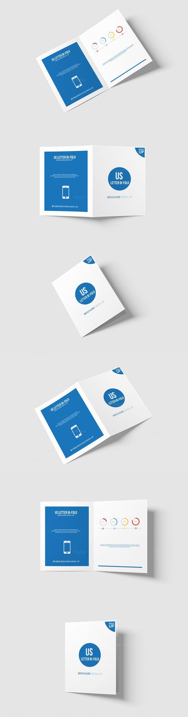 Bi-Fold Brochure Mock-Up - US Letter. Download here: https://creativemarket.com/AlkStudio/605283?u=ksioks