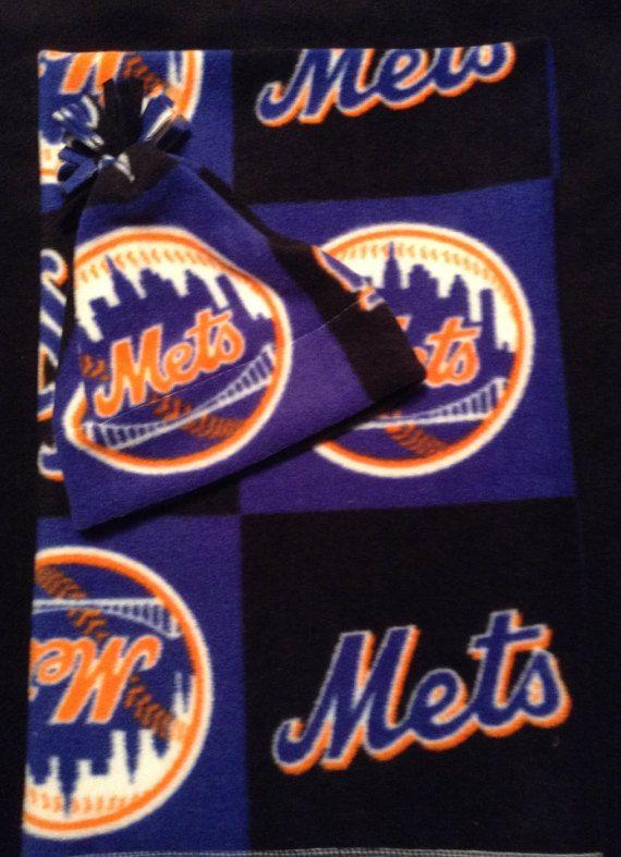 New York Mets Fleece Newborn Receiving by HandMadeInMadison