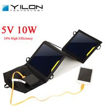 YILON 10W 5V 2A Solar Panel Power Battery Charger For Ipad MP3 Phone Portable Phone Solar Power 2 Port USB Charger With Cable