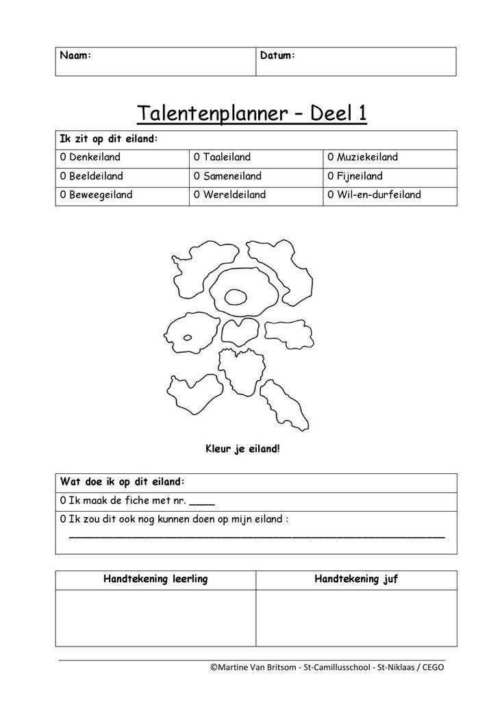 Talentenplanner eenvoudige versie