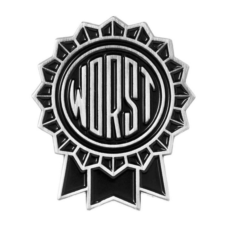 Sourpuss Enamel Pin - The Worst
