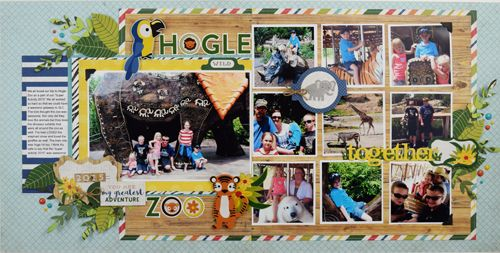 "Echo Park Jungle Safari collection Use ""Jungle Safari"" to Create this Two Page Zoo Layout!"