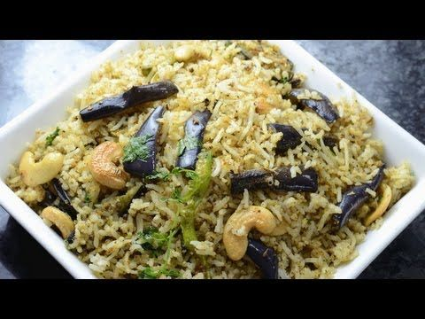 SPICY PULAO WITH STIR FRY BRINJALS,Spicy Pulao wi   vah
