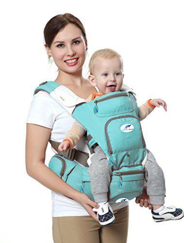 Multifonctionnel porte-bébé 8 en 1 Siège de hanche & Kangourou, le meilleur doux transporteur de face & dos positions / Le bébé faisant…