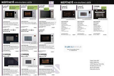 Luxus konyhák a Fabulitól: CATA és Nodor beépíthető mikrók akciója Fabuli Sty...