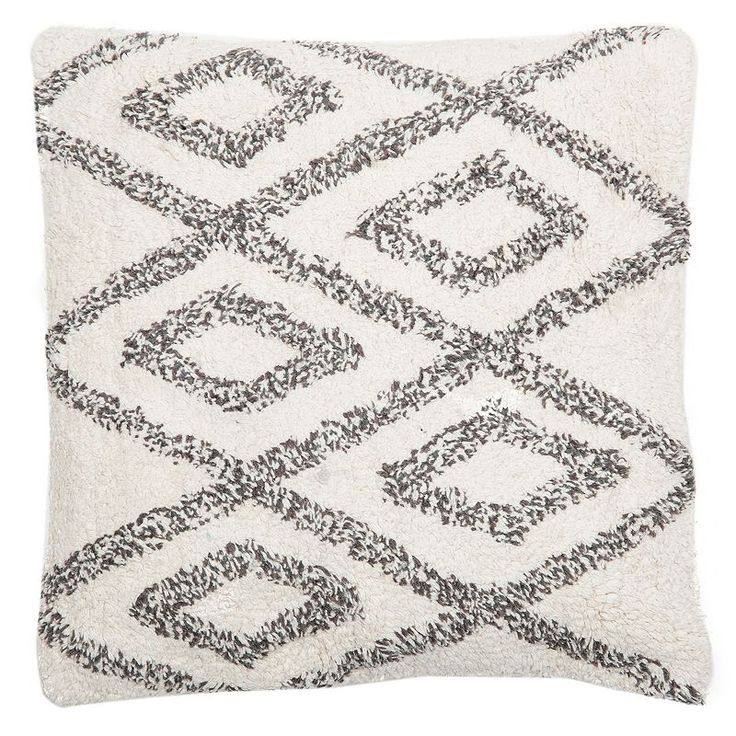 Levtex Chenille Diamond Geometric Throw Pillow, White