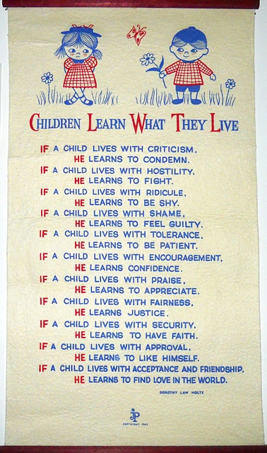 """Children Learn What They Live,"" by Dorothy Law Nolte"