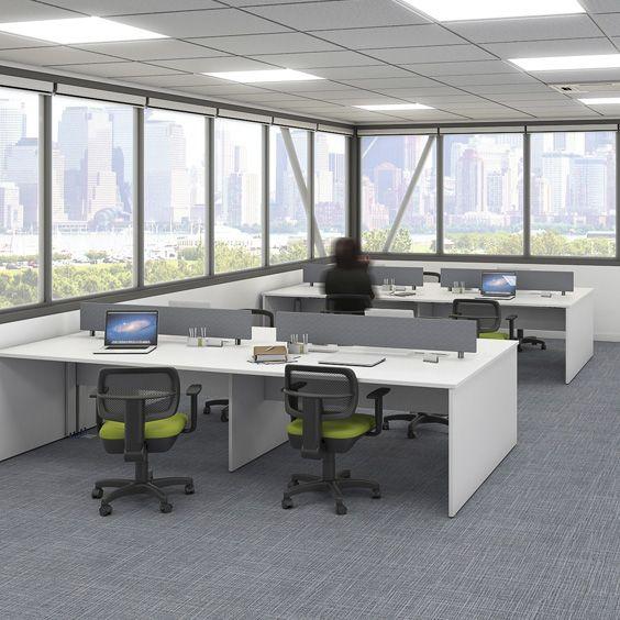 Estação de Trabalho, modelo plataforma com design retilíneo e diversas opções de cores. by RS Design