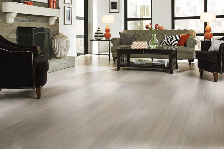 Light floors like Pearl City Bamboo brighten up your home with a clean & simple style that lets your décor shine. [Pearl City Bamboo | Flooring Trends 2015]