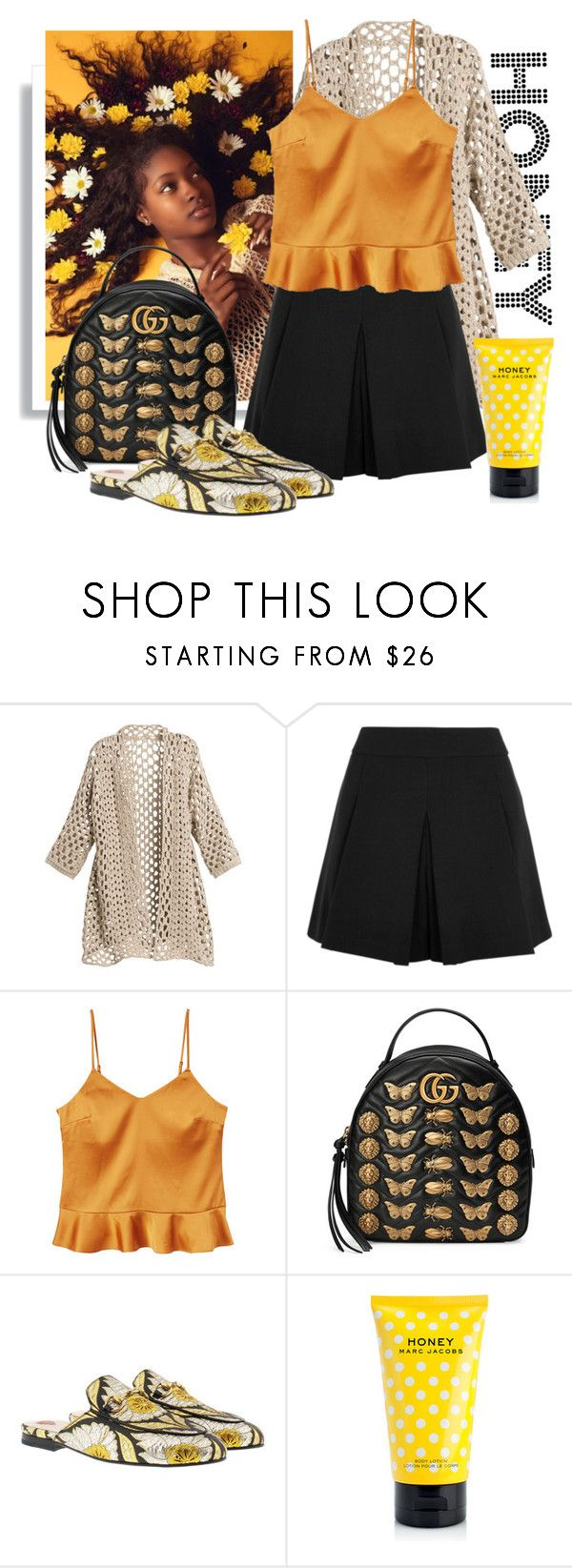 """""""honey honey"""" by apduyer ❤ liked on Polyvore featuring Chico's, Alice + Olivia, MANGO, Gucci and Marc Jacobs"""