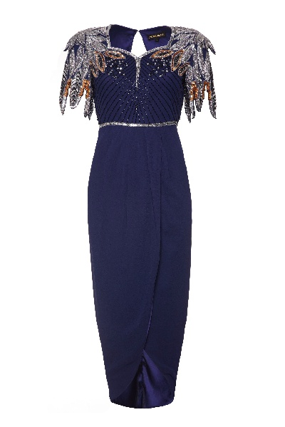 Midnight wrap dress, £95 Virgos Lounge