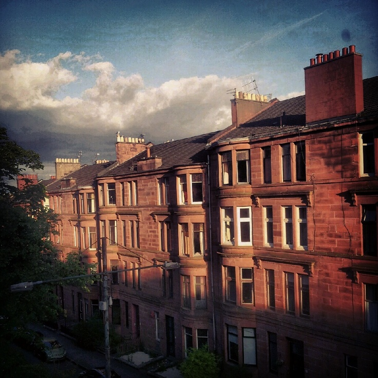 Home sweet home. West End Glasgow, Scotland.