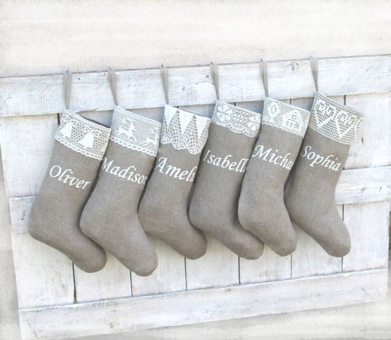 Personalized Christmas stockings Christmas by HedgehogKingdom