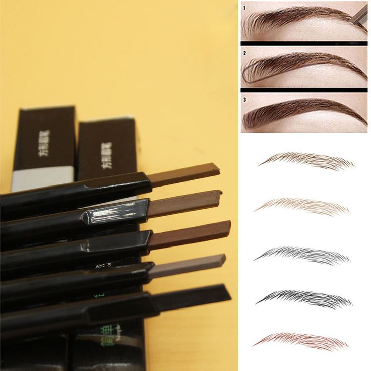New Fashion High Brow Makeup Tool Kit Waterproof Longlasting Brown Chocolate Color Henna Eyebrow Tattoo Shape Powder Pencil