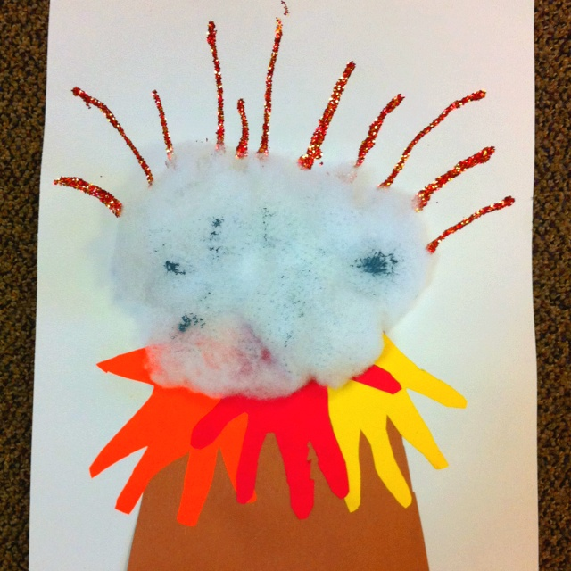 Quot V Quot Is For Volcano Preschool Craftiness Pinterest