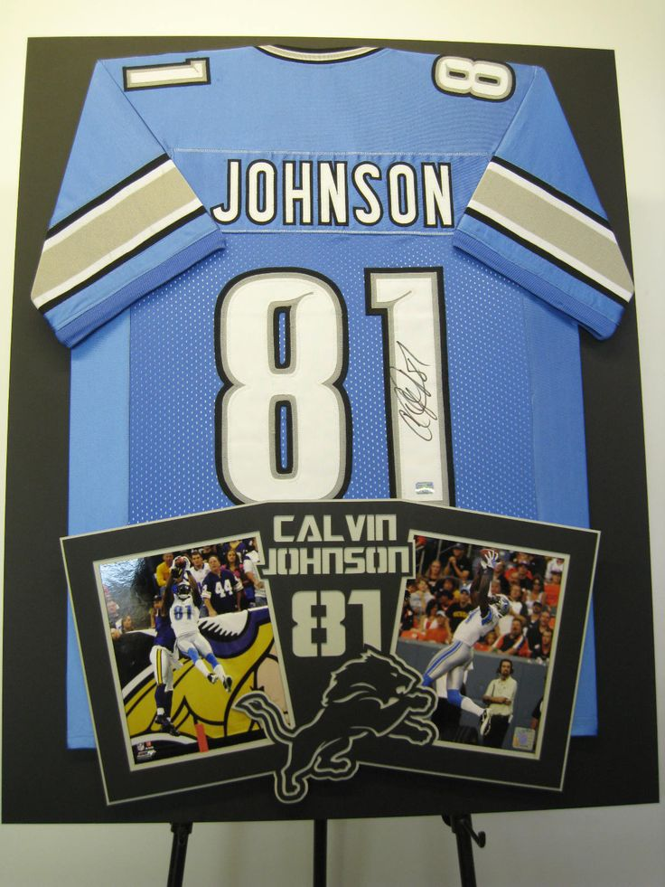 calvin megatron johnson framed jersey with photos framingartnet
