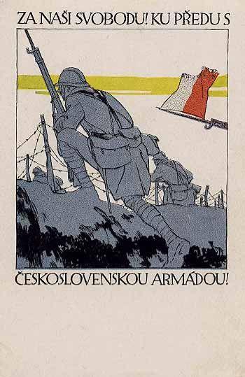 Czechoslovak Legions Postcard