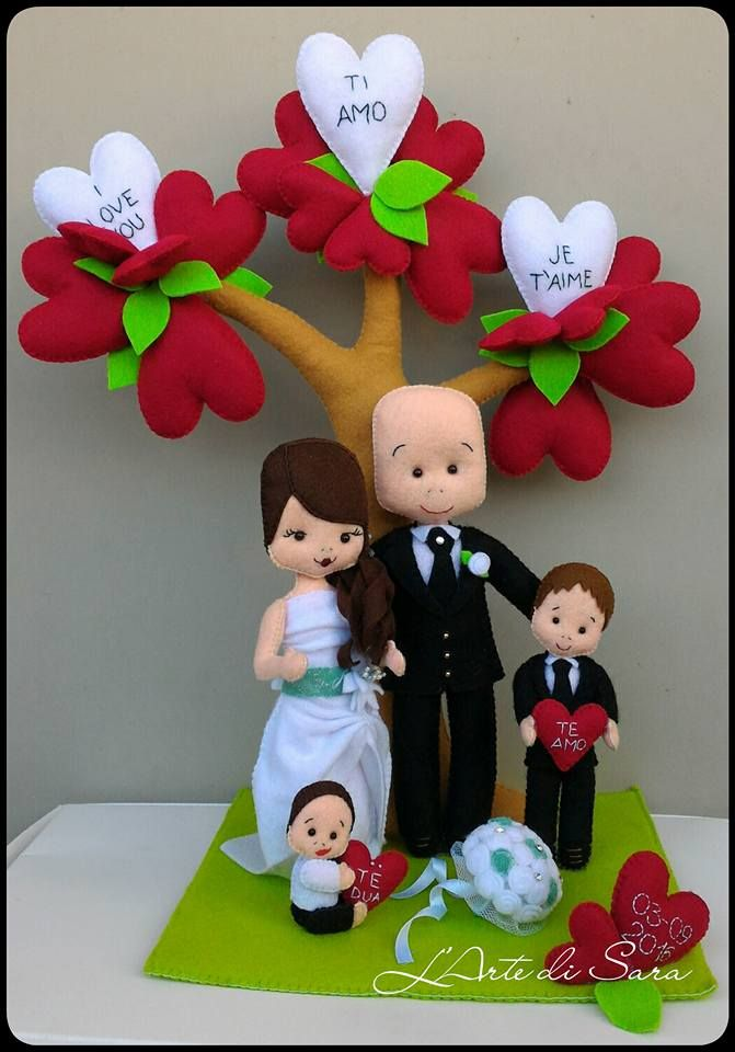 Wedding centerpiece made by https://www.facebook.com/Magie-di-feltro-by-LArte-di-Sara-368888759959650/ *** Le Maddine & Maddy https://www.facebook.com/groups/531953423561246/ *** #madeinfacebook #lemaddine #handmade #handcrafted #instagram #instapic #instagood #picoftheday #instacool #handmade #cool #cute #sewing #embroidery #felt #pannolenci #wedding #bride #heart #love #instalove #centerpiece #weddingtable #decor #decoration #iloveyou #colorful #lartedisara