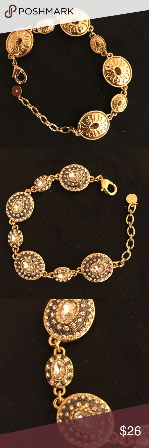 Stella and Dot Bracelet Beautiful Stella and Dot Bracelet! Gold, adjustable and blingy!!! Never worn. NWOB Stella & Dot Jewelry Bracelets