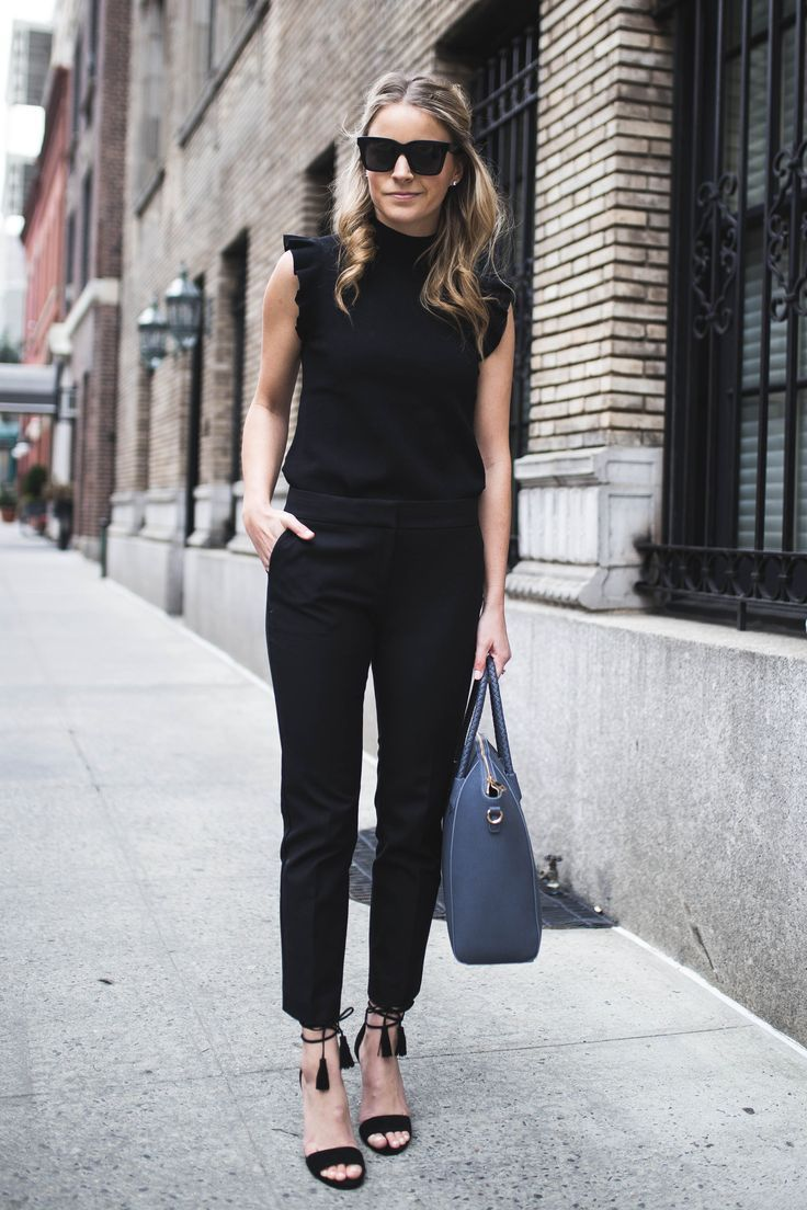 Best 25 slacks outfit ideas on pinterest work clothes for Black shirt business casual