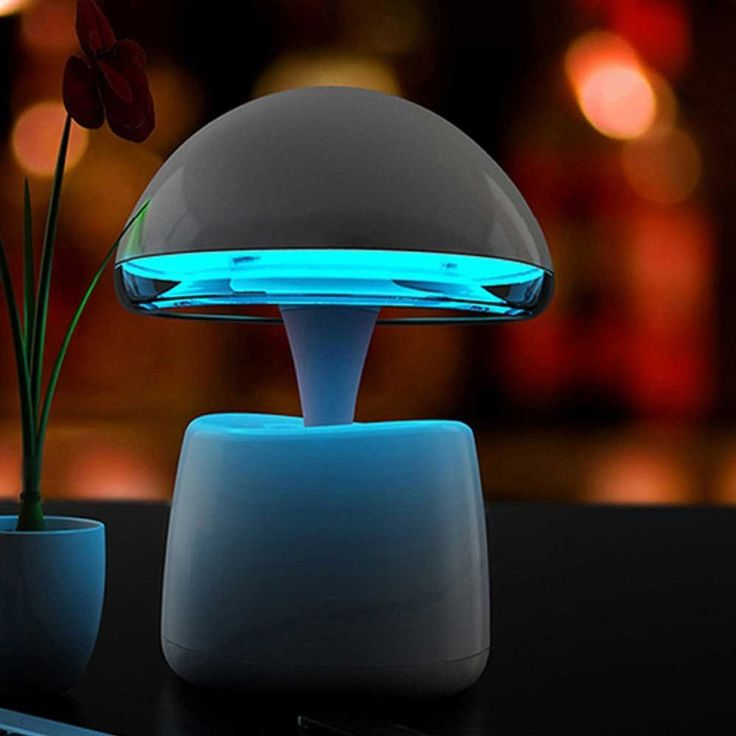 World's First High-tech Creative Lamp / Bluetooth Audio Alarm Clock / bedroom Table Lamp with On/Off Touch Sensor / Task Light and Book Light (light Blue).