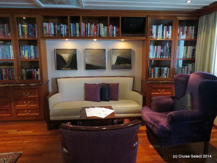 Seadream 1 - Library Area at London Tower Bridge