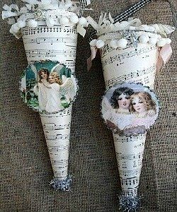 Victorian Style  Christmas Ornaments....~ shabby n chic christmas decoration decor inspiration