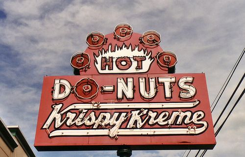 Krispy Kreme Donut sign by RickM2007, via Flickr  Old sign Akron, Ohio