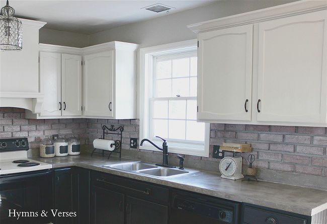 diy concrete countertops over existing formica, concrete masonry, concrete countertops, countertops, diy, how to, kitchen design, This is the finished look