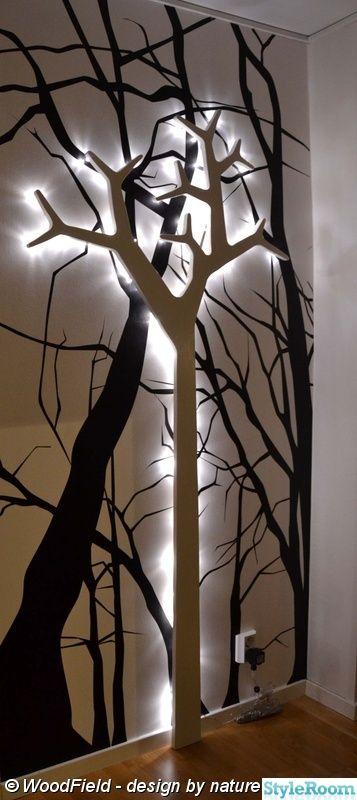 belysning,träd,tapet,ljusslinga,ljus