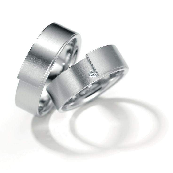 Henrich & Denzel - Palladium Diamond Wedding Rings - ORRO Glasgow