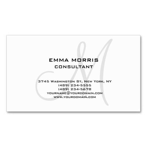 Monogram Modern White Simple Consultant
