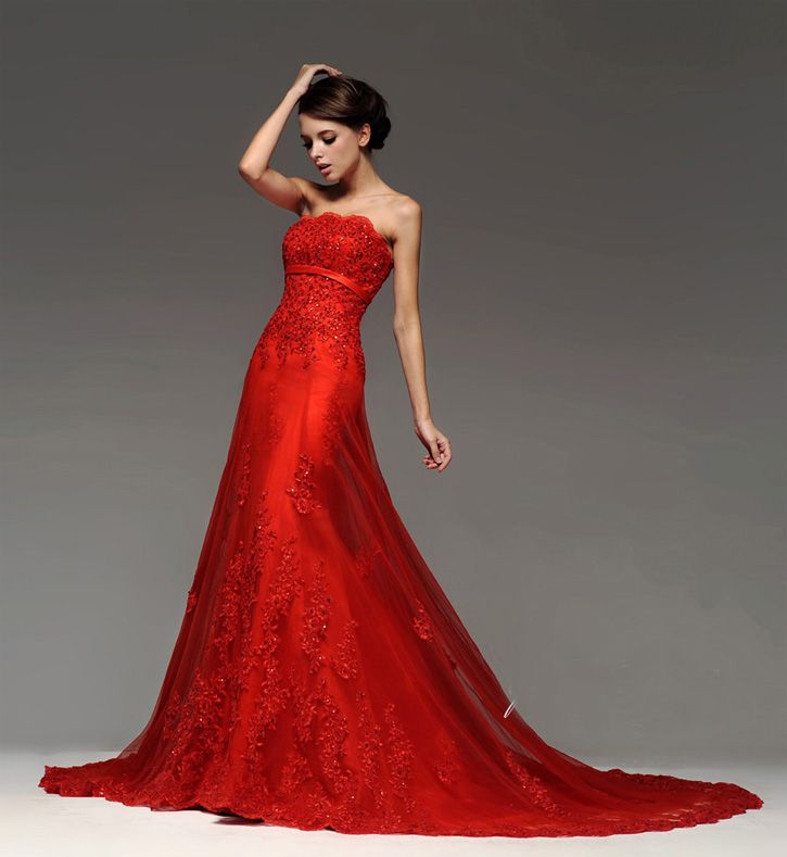 What Colours Not To Wear To A Wedding: Brautkleid Rot (Not This Color, And Not With This Much Of