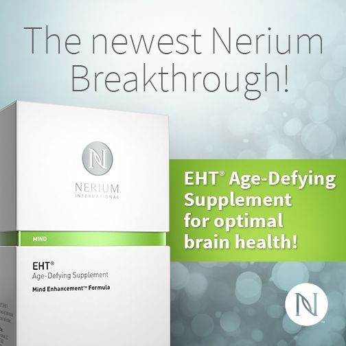 Visit www.christineblum.nerium.com. Check Out the Newest Addition to Nerium's Product Line: EHT Age Defying Supplement! photo