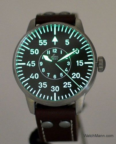WatchMann.com Military Watches and Pilot Watches: Laco Observer Hand Wound Pilot Watch