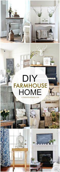 Country Home Decor -                                                              DIY Home Decor - Love these farmhouse decor ideas at the36thavenue.com ...So much inspiration!