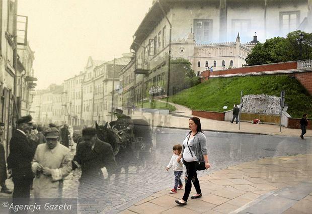 Then and now, Lublin - Plac Zebrań Ludowych, dzisiejszy Zamkowy