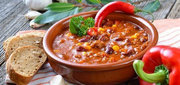 تفسير الفول المدمس في المنام لابن سيرين Chilli Recipes Wendys Chili Spicy Recipes