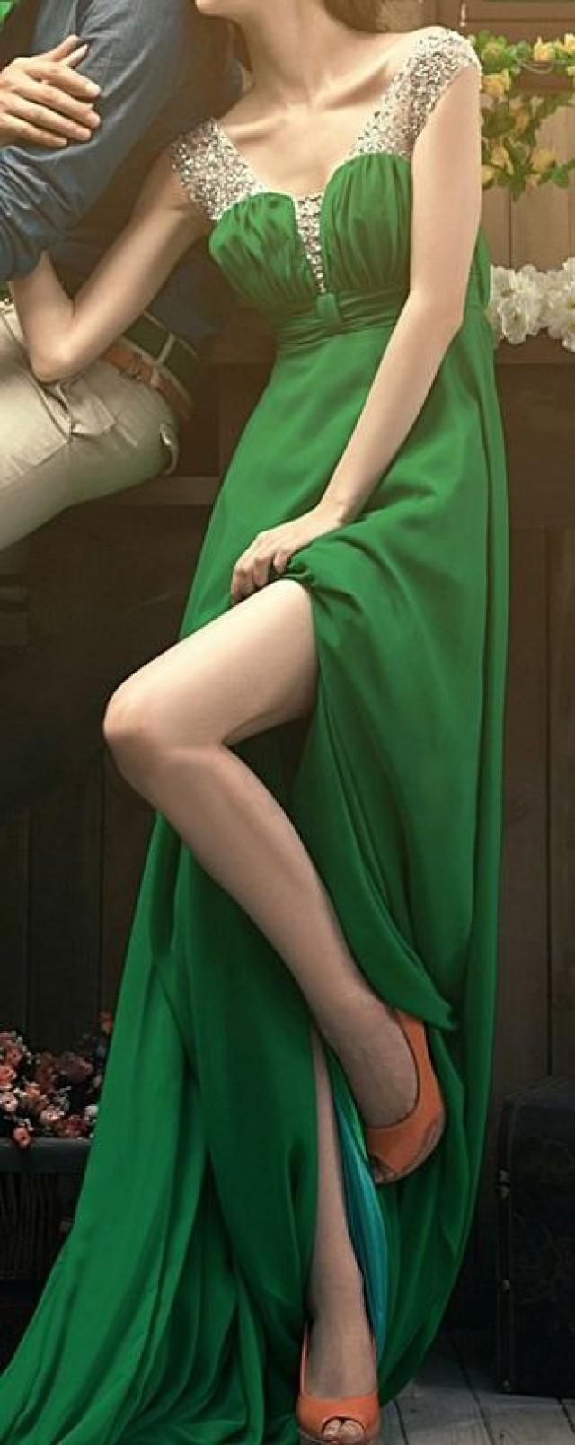 Emerald gown green