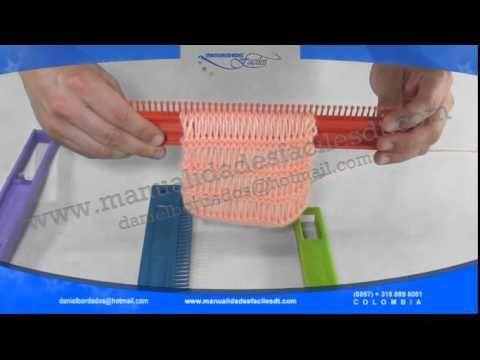 Como hacer puntadas con el telar universal (DANTAPLAST) - YouTube