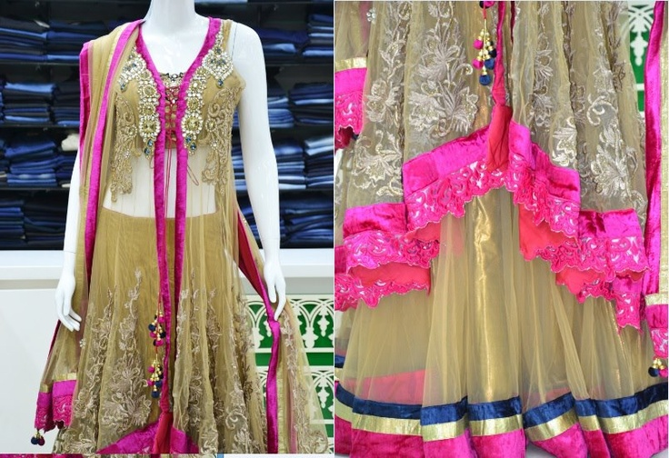 Simply Splendid: An exclusive and red-hot designer Gagra Choli with gorgeous embroidery. Price: Rs 40800