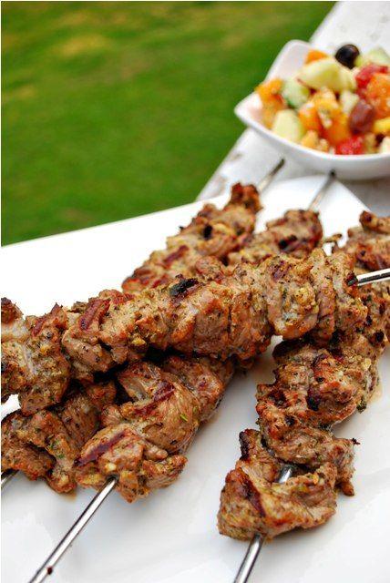Juicy lamb kebabs, medium rare please