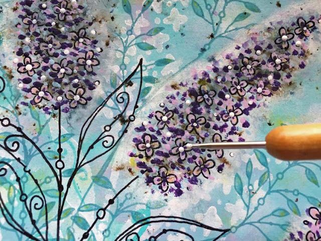 PaperArtsy: 2017 #8 3D Buddleia {by Kay Carley}