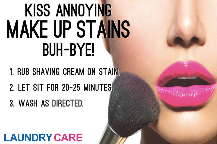 How to remove make-up stains