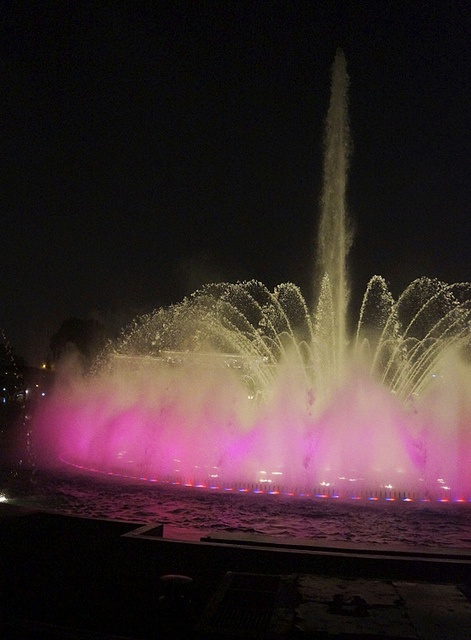 Beautiful pink fountain in Lima, Peru