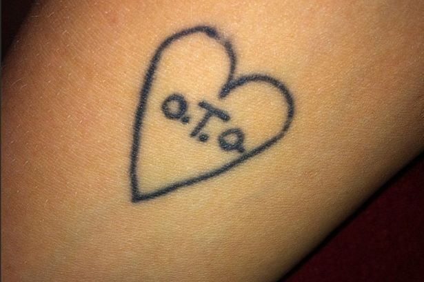 Peaches-Geldof's O.T.O. (Ordo Templi Orientis) tattoo.  Infamous occultist, child killer, and all around miserable excuse for a human being Aleister Crowley was the most famous member of the O.T.O.  Peaches Geldof died under suspicious circumstances, like so many other puppets of the elite, and her father should be considered highly suspect in everything he does.