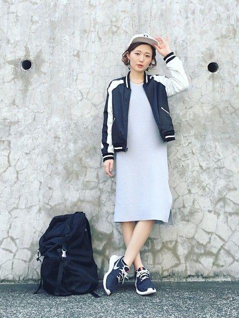 ワンピ&MA-1合わせ! ◇◆ボーイッシュ系タイプのファッション スタイルの参考コーデ◆◇