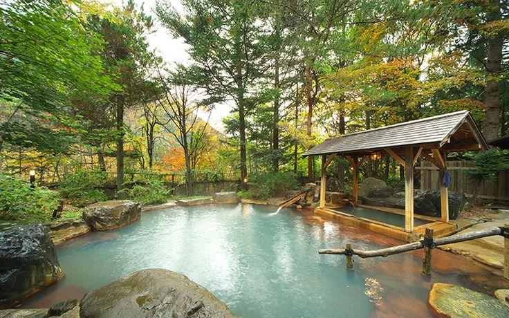 Magokuro Inn, Okuhida Onsen, Gifu 奥飛騨温泉郷・福地温泉の旅館 元湯 孫九郎 | 帝の湯(露天風呂)