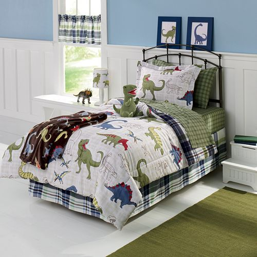 bedtime will be rawrsome with this cozy bed set from jumping beans